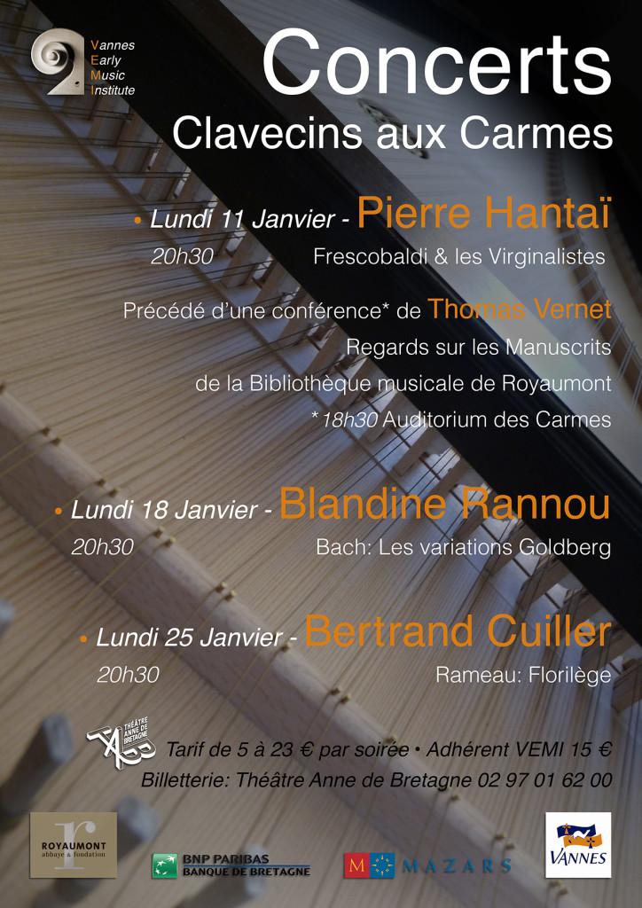 Clavecins aux Carmes Janvier 2016