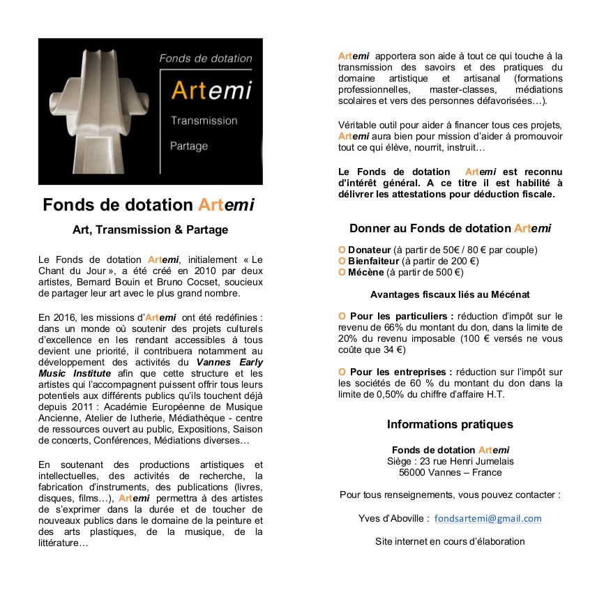 ARTEMI Fonds de Dotation